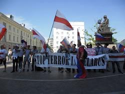 Акция солидарности с Беларусью на Евро-2012