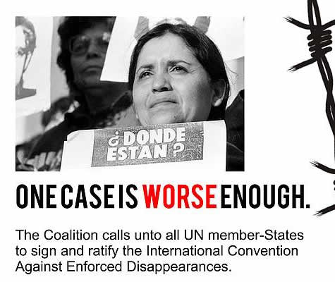 Заявление ICAED к Международному дню исчезнуших: Чтить память исчезнувшихчерез неустанный призыв кгосударствам присоединиться кКонвенции против исчезновений