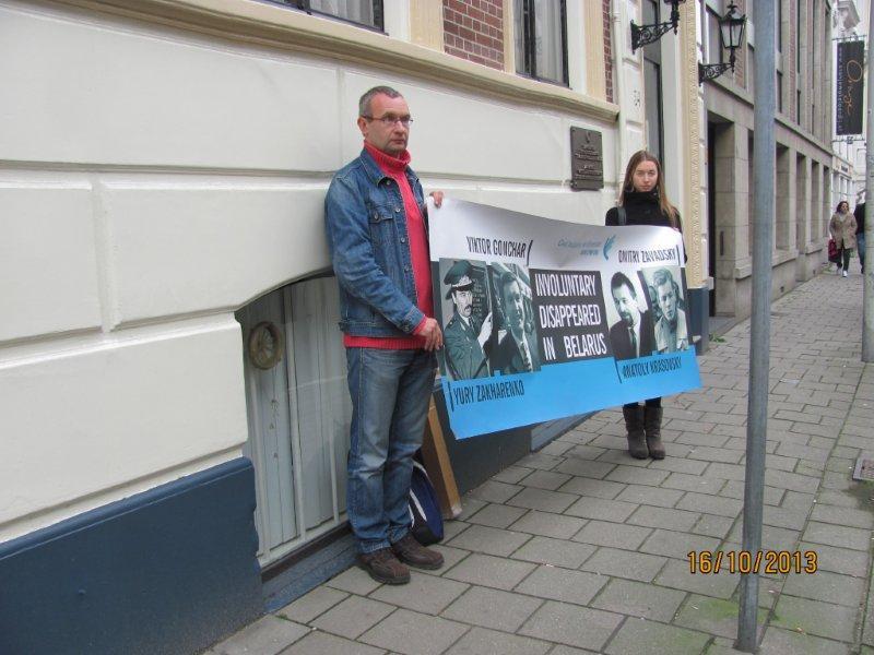 В Нидерландах прошла акция солидарности с семьями исчезнувших белорусов